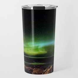 Northern Lights and the Rocky Shore Travel Mug