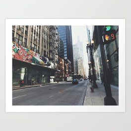 Chicago Street View Art Print