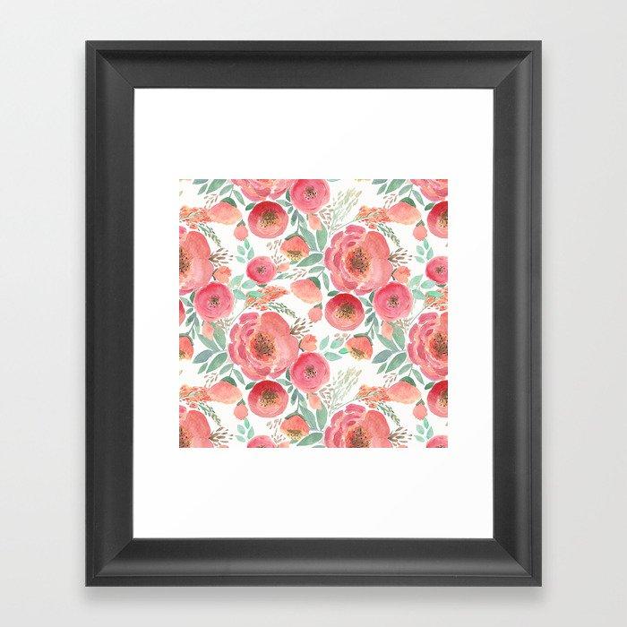 Floral pattern 5 Gerahmter Kunstdruck