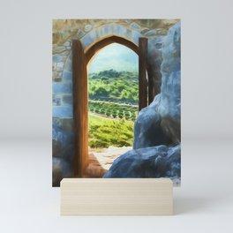 door with views Mini Art Print