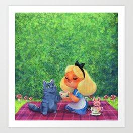 Alice Tea Party Art Print