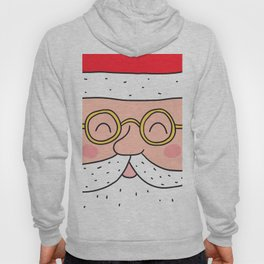 Happy Santa Claus face. Merry Christmas and Happy New Year! Hoody