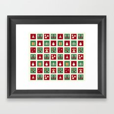 Home for the Holidays Mini Collage Framed Art Print