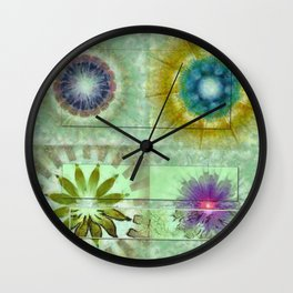 Scald Bared Flowers  ID:16165-022215-51851 Wall Clock