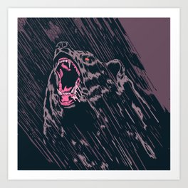 Remix of late night bear Art Print