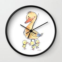 MamaDuck Wall Clock
