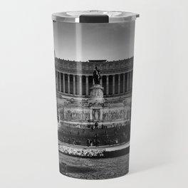 Piazza Venezia Black and White Travel Mug