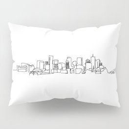 Denver Skyline Drawing Pillow Sham