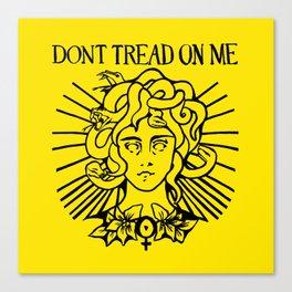 Medusa: Don't Tread On Me (Yellow) Canvas Print