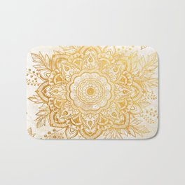 Queen Starring of Mandala-Gold Sunflower Bath Mat