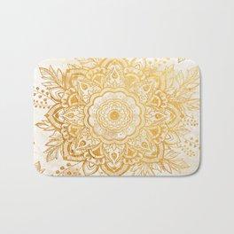 Queen Starring of Mandala-Gold Sunflower I Bath Mat