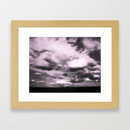 Cloudy Sky #decor #society6 Framed Art Print