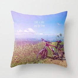 bike = freedom Throw Pillow