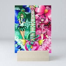 Sailor Mew Guitar #50 - Sailor Neptune & Mew Ichigo Mini Art Print