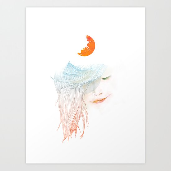 Sleepy Art Print