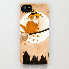 The Ginger Witch Cat iPhone Case