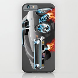Classic American Muscle Car Hot Rod Cartoon iPhone Case