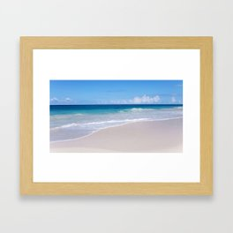 The Ocean's Lacy Fringe - Version 2 - Tropical Horizons Series Framed Art Print