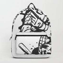 Military skull with guns Backpack