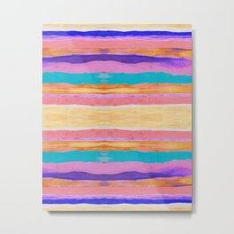 Desert Stripes Metal Print