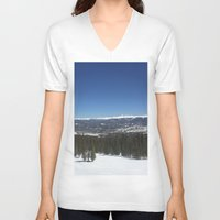 colorado V-neck T-shirts featuring Colorado by A&N2218