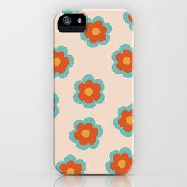 70s Retro Flowers  iPhone Case