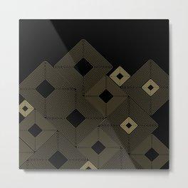 Rhombus on Black Metal Print