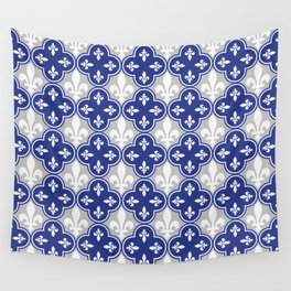 Quebecois Quebec Flag Seamless Pattern Wall Tapestry
