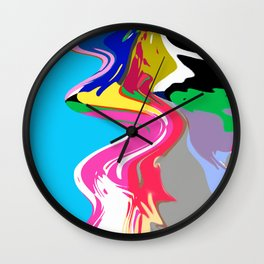 Splash Painting Wall Clock