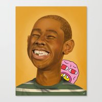 tyler the creator Canvas Prints featuring Tyler, The Creator by Karen Keller