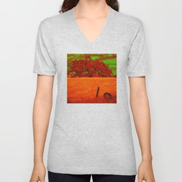 Sci-Fi Alien Countryside Unisex V-Neck