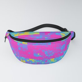 Pansexual Pride Pixellated Squares Radiance Fanny Pack