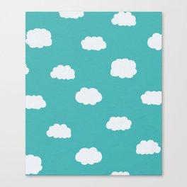 Cartoon Clouds Pattern Canvas Print