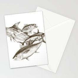 Saltwater big game Stationery Cards