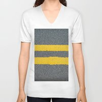 street V-neck T-shirts featuring Street by Anna Berthier