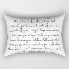 Deuteronomy 6:4-7 Rectangular Pillow