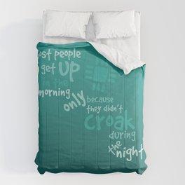 Croak-Teal Comforters
