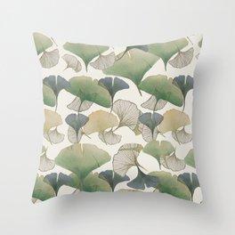 Ginkgo Leaf Pattern Throw Pillow