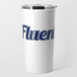 """""""I Speak Fluent Sarcasm"""" tee design perfect to mock your friends this holiday! Go get it now!  Travel Mug"""