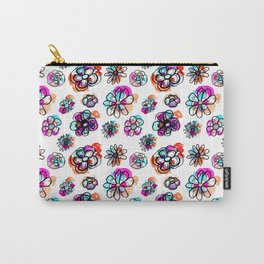 colorful fall floral Carry-All Pouch