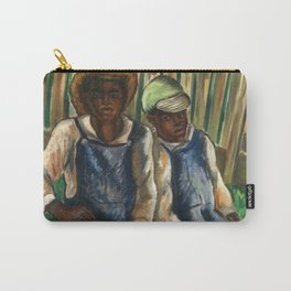 African American Masterpiece 'A Portrait of Two Brothers' by Malvin Gray Johnson Carry-All Pouch
