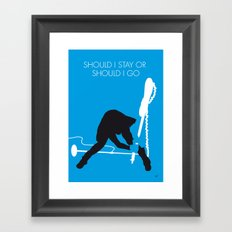 No029 MY The clash Minimal Music poster Framed Art Print