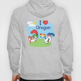 Ernest and Coraline | I love Oregon Hoody