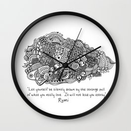 The world of Rumi - Follow what you Love Wall Clock