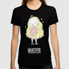 Whatever Womens Fitted Tee Black LARGE