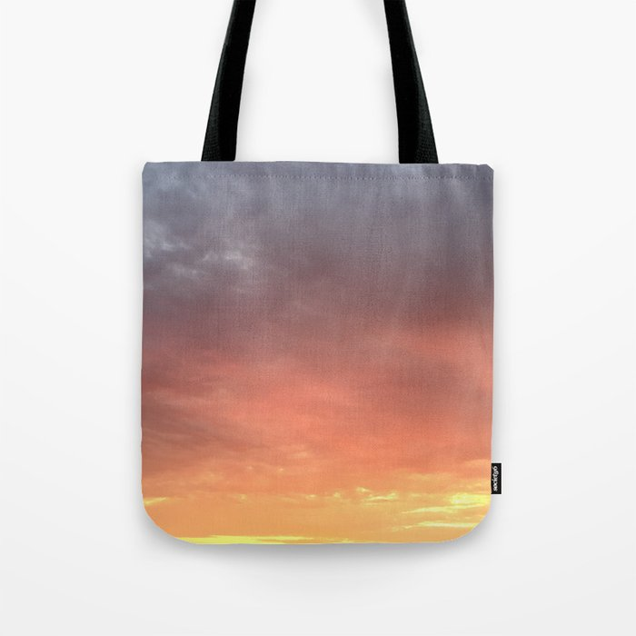 Yellow Red and Gray Sky Tote Bag