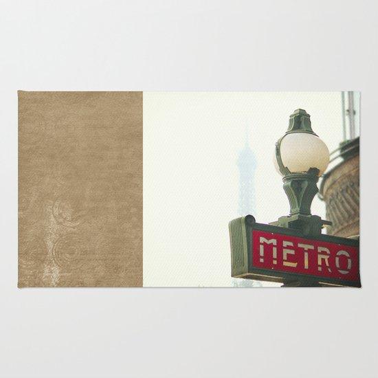 Metro in Paris Rug