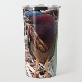 Too Cool Bird ( Green Herron) Travel Mug