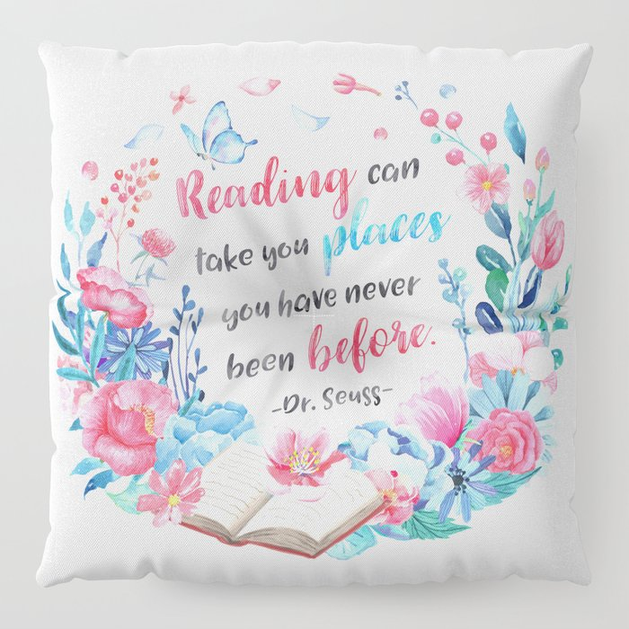Reading can take you places Floor Pillow