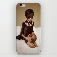 power iPhone & iPod Skins featuring With Great Power by Ruben Ireland